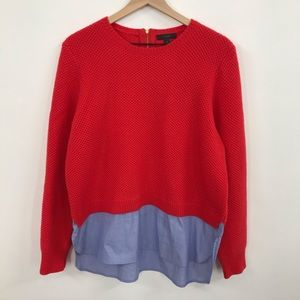 J Crew | Layered Look Sweater Top LIKE NEW